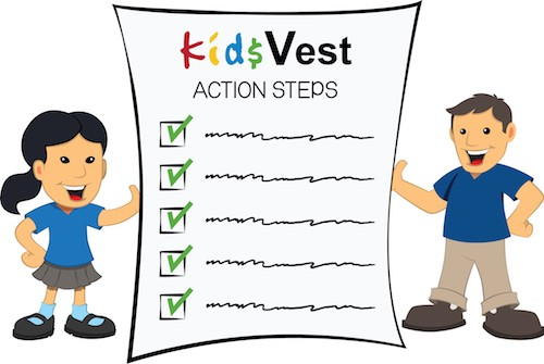 Kids holding a checklist